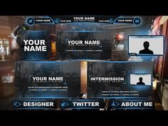 Free Graphics: Twitch / Hitbox livestream template pack #1: COD AW - Photoshop by @YLLiBzify - YouTube