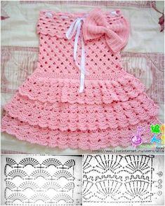 Crochet summer dress for little girls free pattern