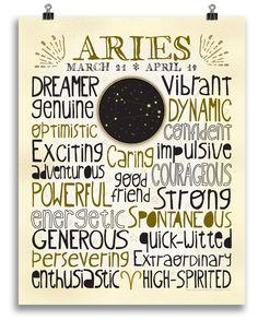 Aries • Zodiac Print - Anne Garrison Studio
