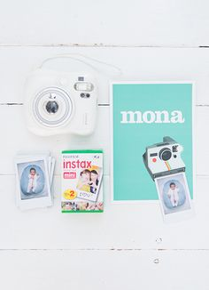 geboortekaartje polaroid birth card