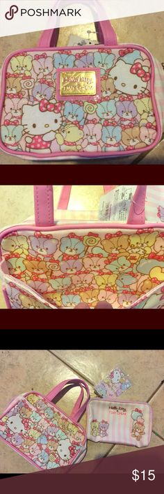 858d7d8ba NWT HelloKitty Tiny chum mini cosmetic bag w pouch Brand new with tag Japan  Only imported