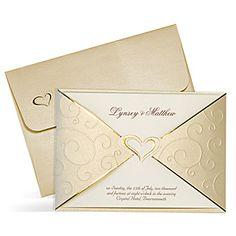 Gold Wedding Invitations UK - Royal Gold