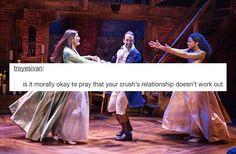 Eliza, Alexander and Angelica // Hamilton + funny text posts