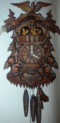 Hubert Herr cuckoo clock with dancing squirrels!    $883