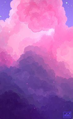 "Purple Aesthetic Discover ""my art""-HIATUS Hi! Cloud Wallpaper, Iphone Background Wallpaper, Scenery Wallpaper, Kawaii Wallpaper, Pink Wallpaper, Pink And Purple Wallpaper, Screen Wallpaper, Aesthetic Pastel Wallpaper, Aesthetic Backgrounds"