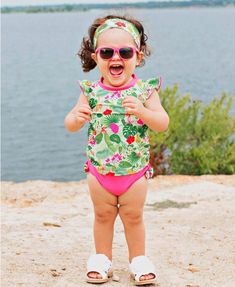 Candy Sunglasses - Rufflebutts.com  Cuteness overload in our Candy Sunglasses! The perfect baby sunglasses! Baby Sunglasses, Girl With Sunglasses, Kids Glasses Frames, Baby Bikini, Girl Fashion Style, Junior Fashion, Stylish Kids, Pink Candy, Our Girl