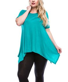 Look what I found on #zulily! Green Sidetail Tunic - Plus #zulilyfinds