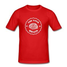 Tee shirt Use Your Brain - Funny Statement / slogan #cloth #cute #kids# #funny #hipster #nerd #geek #awesome #gift #shop Thanks.