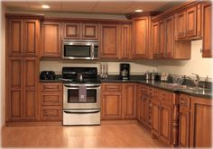 kitchen remodel painting cabinets | kitchen cabinets refacing ideas in dark brown Simple Remodeling With ...