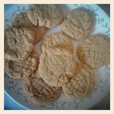 Soynut butter cookies. I made these for my son Ky who has a peanut allergy. I used my mom's easy pb cookie recipe: 1 c sugar, 1 c pb or soynut butter and 1 egg . Bake 10 -12 min at 350°. Easy and delicious.