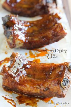 Sweet and Spicy Ribs