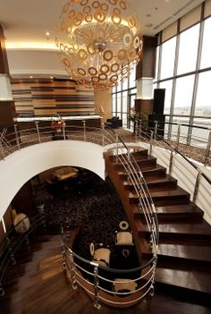Sky Line Lounge #lounge #hotel #5starhotel #travel #chilling #tourism #bestview Lounge, Semarang, Chilling, Tourism, Stairs, Tower, Sky, Travel, Home Decor
