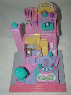 Polly Pocket -1993 Light up house Mini Mansion Playset - Pollyville #mythirdpollypocket