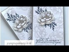 Card Making Tutorials, Sympathy Cards, Card Tags, Stamping Up, Flower Cards, Stampin Up Cards, Simple Style, Cardmaking, Blog