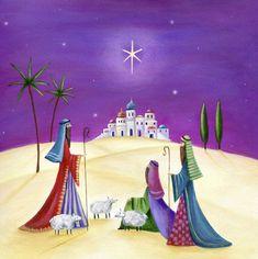 Leading Illustration & Publishing Agency based in London, New York & Marbella. Diy Christmas Cards, Christmas Books, Vintage Christmas, Nativity Painting, Art Sites, Winter Art, Beautiful Christmas, Artwork, Infancy
