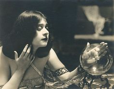 The silent film actress Theda Bara by Witzel Studios, circa 1917