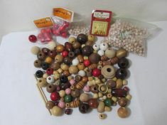 Macrame Wood Beads Various Sizes and Colors Craft Supplies