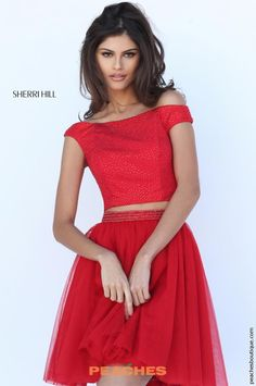 Two Piece Sherri Hill Short Dress 50497