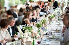 Rustic white wedding table decorations.