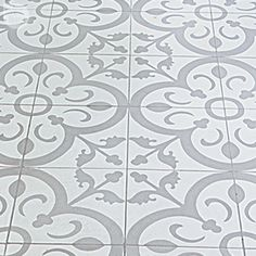Granada Tile's Normandy cement tiles in a bathroom on Style At Home