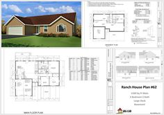 Free House Plans For Autocad 2 House And Cabin Plans Autocad Dwg House Plans 62…