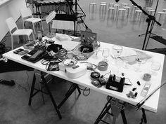 """A sneak peek at Steve Beresford's setup"" - Fabio Lugaro on Twitter."