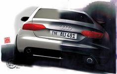 Audi A4 design sketch from the Design Sketch Board http://www.carbodydesign.com/design-sketch-board/
