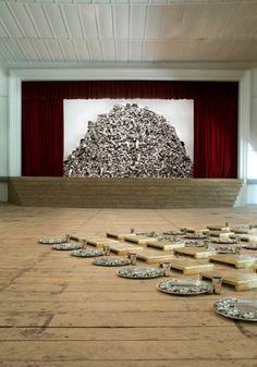 "Galleria ContinuaSubodh Gupta, ""5offerings for the greedy Gods,"" 2006-2008[content:shareblock]Courtesy Abu Dhabi Art[content:advertisement-center]"