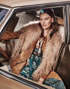 """Get inspired by Amanda Murphy in the editorial """"Bohemian Rhapsody"""" for The Edit October 2015 by fashion photographer Alique. Shop all the looks here! Fur Fashion, Fashion Shoot, World Of Fashion, Editorial Fashion, Winter Fashion, Car Editorial, High Fashion, Luxury Fashion, Bohemian Style"""
