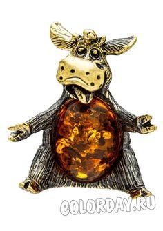 "фигурка ""Бык Дружок"" Baltic Amber, Teddy Bear, Animals, Animales, Animaux, Teddybear, Animal, Animais, Dieren"