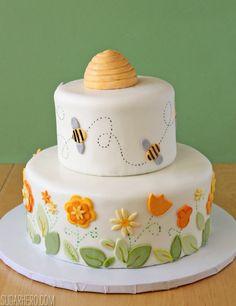 Bumblebee Cake - Lemon Layer Cake with Lemon Buttercream