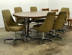 """Mid Century Modern Chromecraft Dining Table and Six Chairs   Dealer #3333  Table is 71"""" Wide x 31.5"""" Deep x 30"""" High   $750  Lucas Street Antiques Mall 2023 Lucas Dr.  Dallas, TX 75219"""