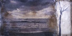 mixed media-08-1/ by sadatsugu toboe/      (photograph, sand and oil on canvas / H : 90cm × L : 180cm × D : 4,5cm - 2008)