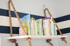 Suspended Shelf Rope Shelf Swing Shelf Floating by ComfyArtHouse