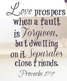 What bible says about love and forgiveness.
