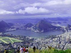 Lagoa Rodrigo de Freitas Formato Coração - Trilha Morro Dois Irmãos no Rio de Janeiro