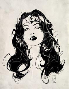 Javi García Artwork: Wonder woman