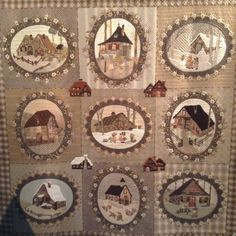 House quilt in taupe …