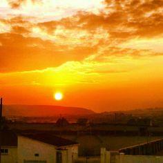 Sunset skies..