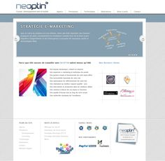 Neoptin : redesign of the logo and the whole website