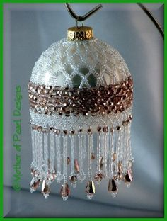 Mother of Pearl Designs - Beaded and Original Christmas Ornaments & Ornament Covers - various styles and prices (completed ornaments)