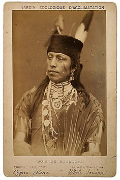 """""""White Swan"""", a man of the Omaha Tribe, 1883. No additional information."""