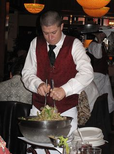 There is no better salad anywhere than the one they spin tableside at House of Prime Rib. Luckily, I've been able to recreate the dressing at home and can make a fairly decent knock-off version.