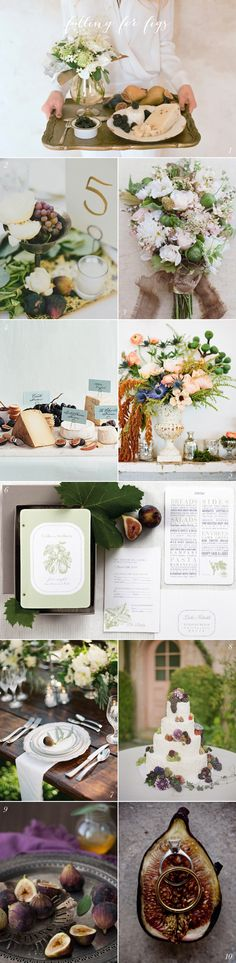 """Fig Wedding Ideas"" -- Lovely compilation at the click-through, with photographs all credited. -- I have to say, my main thought is how sticky those rings would be in photo # 10!!"