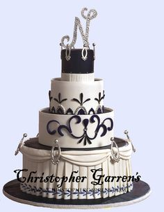 Christopher Garrens - Portfolio - Weddings - Traditional Orange County Wedding Cakes at Christopher Garrens Let Them Eat Cake Costa Mesa / Newport Beach California Los Angeles San Diego Pastry Special Occasion Cake Party Cake .