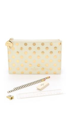 Kate Spade New York Gold Dots Pencil Pouch £18.92