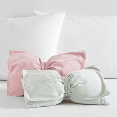 The Emily & Meritt Velvet Bow Pillows | PBteen