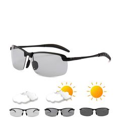 Our sunglasses are equipped with smart polarized lenses. They contain computer chips and liquid crystals. Polarized Sunglasses, Mens Sunglasses, Types Of Sunglasses, Cloudy Weather, Unisex, Look Cool, Ultra Violet, Color Change, Eyewear