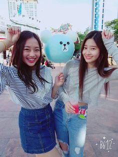 Kriesha Chu and Kim Minjoo Hunny Bunny, Yu Jin, Just She, Japanese Girl Group, Kim Min, My Boo, Pledis Entertainment, Korean Music, The Wiz