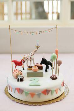 Party Animals, Animal Party, Zoo Animals, Animal Birthday Cakes, Birthday Animals, Festa Party, Cute Cakes, Party Cakes, 1st Birthday Parties